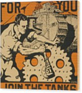 Join The Tanks Wood Print