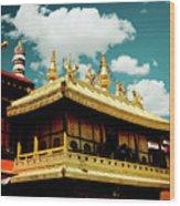 Jokhang Temple Fragment  Lhasa Tibet Artmif.lv Wood Print