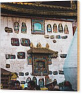 Jokhang Temple Wall Lhasa Tibet Artmif.lv Wood Print
