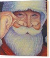 Jolly Old Saint Nick Wood Print