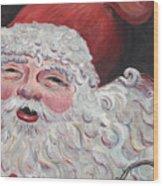 Jolly Santa Wood Print