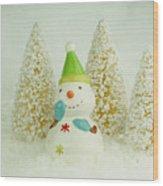 Jolly The Snowman I Wood Print