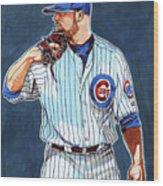 Jon Lester Chicago Cubs Wood Print