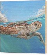 Jonah Wood Print by Deb LaFogg-Docherty