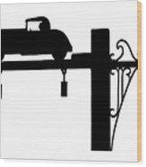 Jones Beach Silhouette Sign Photograph - Dad Driving To The Beach Wood Print