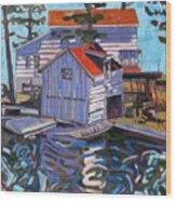 Jones Boathouse Wood Print