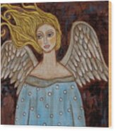 Jophiel Wood Print by Rain Ririn