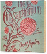Joplin: Chrysanthemum Wood Print