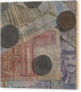 Jordan Currency Wood Print