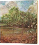Jordan Lake Wood Print