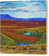 Jordan Vineyard Wood Print