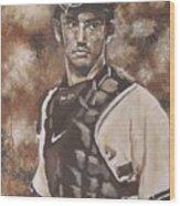 Jorge Posada New York Yankees Wood Print