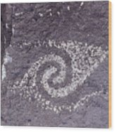 Jornada Mogollon Petroglyph, 5000 Bc- Wood Print