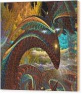 Jorrmungand Wood Print