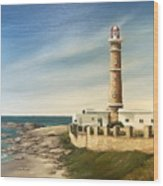Jose Ignacio Lighthouse Evening Wood Print