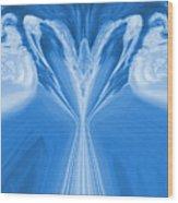 Josea - Blue Wood Print