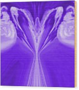 Josea - Purple Wood Print