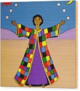 Joseph And His Coat Of Many Colours Wood Print