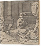 Joseph Interprets The Dreams In Prison Wood Print