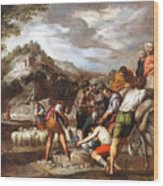 Joseph Sold By His Brothers Wood Print