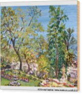 Josephine Gardens Wood Print
