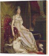 Josephine In Coronation Costume Wood Print