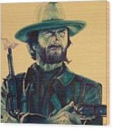 Josey Wales Outlaw. Smokin Gun Wood Print