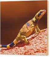 Joshua Tree Lizard Wood Print