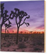 Joshua Tree Pastel Colors Wood Print