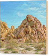 Joshua Tree Rocks Wood Print
