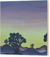 Joshua Tree Sunset Wood Print