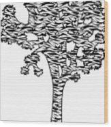 Joshua Tree Zebra Stripes Wood Print
