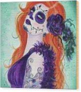 Joslyn Day Of The Dead Art Wood Print
