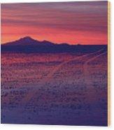 Journey In A Purple Dreamland Wood Print