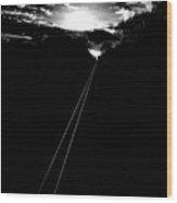 Journey Into The Sunrise Wood Print