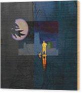 Journey Through Muddy Waters Wood Print