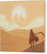 Journey's Beginning Wood Print