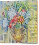Joy Bouquet Wood Print