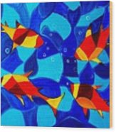 Joy Fish Abstract Wood Print