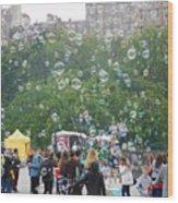 Joy Of Bubbles Wood Print