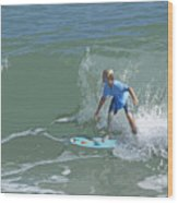 Joy Of Surfing - Four Wood Print