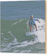Joy Of Surfing - Three Wood Print
