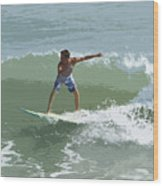 Joy Of Surfing One Wood Print