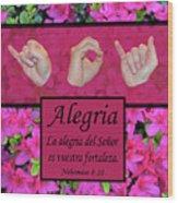 Joy Of The Lord Spanish Wood Print