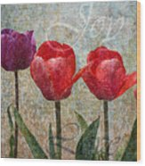 Joy Withtulips Wood Print