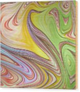 Joyful Flow Wood Print
