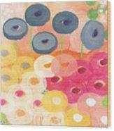 Joyful Garden 3 Wood Print