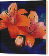 Joyful Lilies Wood Print