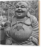 Joyful Lord Buddha Wood Print