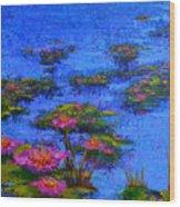 Joyful State - Modern Impressionistic Art - Palette Knife Landscape Painting Wood Print